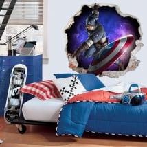 Vinile 3d marvel capitan america