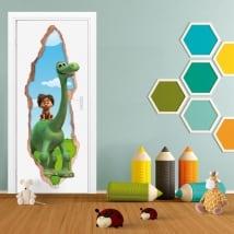 Vinile per bambini porte 3d disney il viaggio di arlo