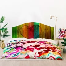 Vinili letti delle testate cuore colori del legno