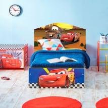 Vinile per bambini disney cars 2 testata del letto