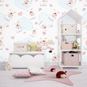 Murales per bambini unicorni e cuori