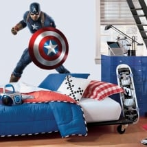 Vinile decorativo marvel capitan america