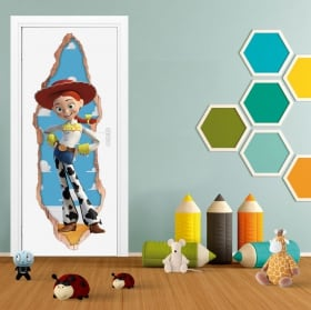 Vinile per bambini porte 3d woody toy story