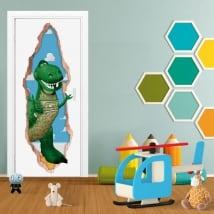 Adesivi porta 3d rex dinosauro toy story