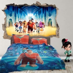 Sticker murale 3d disney wifi ralph