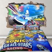 Vinili 3d videogioco team sonic racing