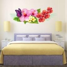 Vinili per i muri fiori e farfalle