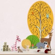 Vinile bambini e giovani animali della foresta
