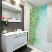 Vinili schermi piante di bambù dell'acquerello