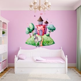 Vinili bambini o giovani principessa e unicorno