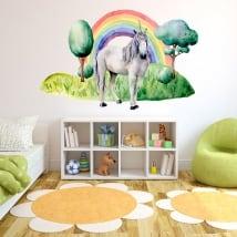 Vinili infantile o giovanile unicorno e arcobaleno