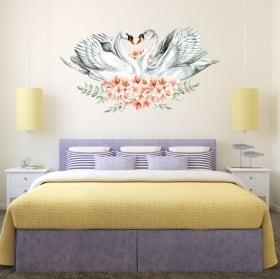 Vinili muro pappagalli o are in acquerello
