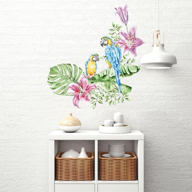 Vinili pareti pappagalli o are in acquerello