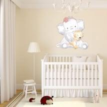 Vinile per bambini o neonato elefante con cane