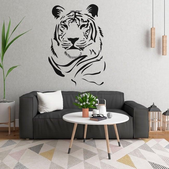 Vinile e adesivi sagoma di tigre