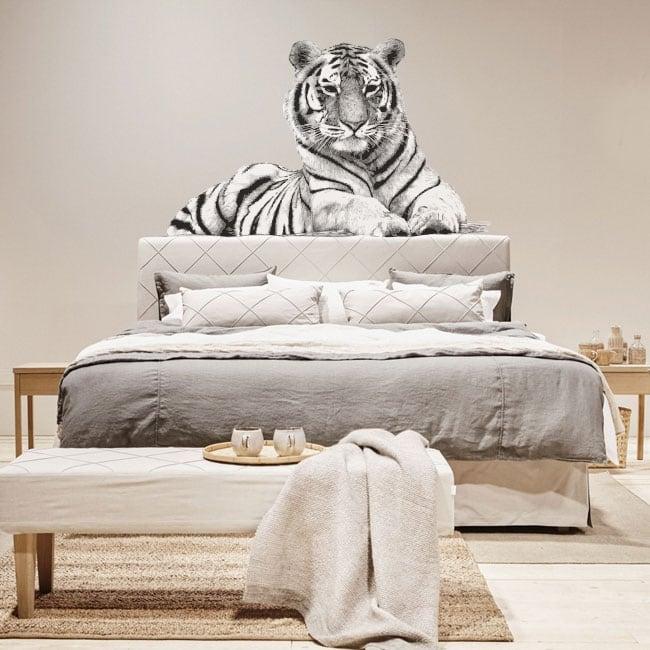 Adesivi murali sagoma di tigre