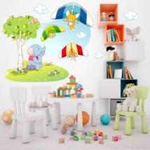Adesivi murali animali per bambini deltaplano