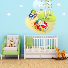 Vinile e adesivi per bambini o neonati gara automobilistica