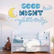 Vinile per bambini o neonati frase inglese good night