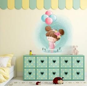 Adesivi decorativi elefante e coniglio con cuori