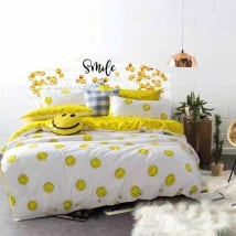Vinile testata del letto emoji smile emoticon