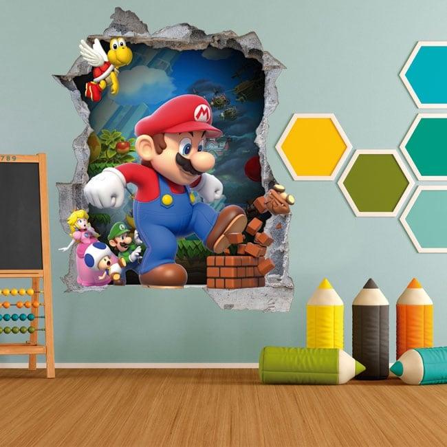 Vinile bambini e giovani videogiochi mario bros 3d