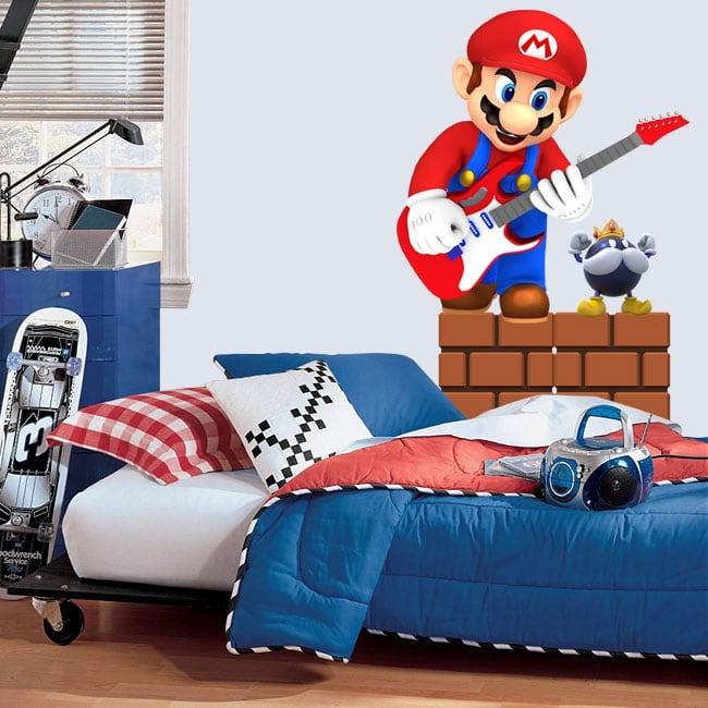 Vinile e adesivi videogioco mario bros con la chitarra