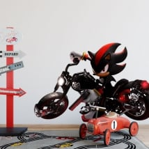 Vinile e adesivi videogioco sonic con moto