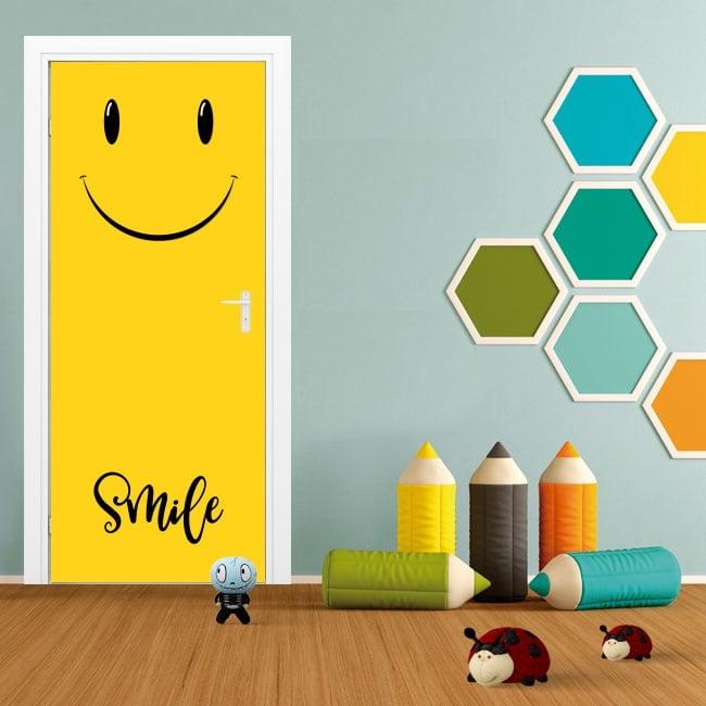 Adesivi per porte emoticon smile emoji