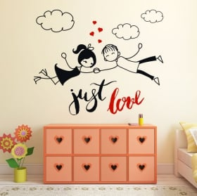 Vinile decorativo e adesivi frase inglese just love