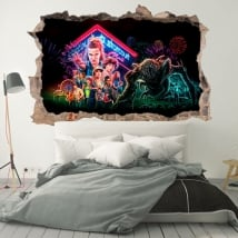 Vinile decorativo 3d netflix serie tv stranger things