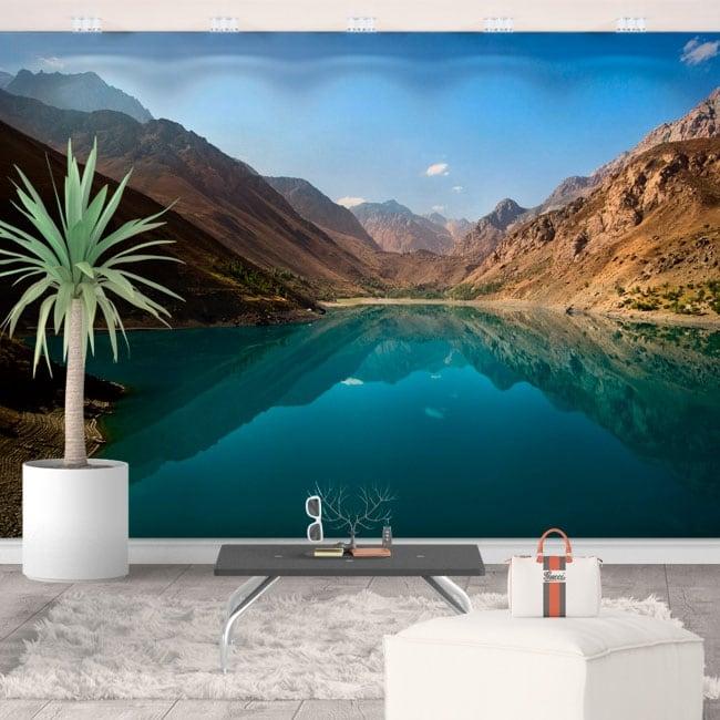 Murali in vinile lago e montagne