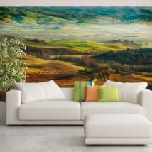 Murales in vinile natura e montagne della toscana italia