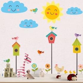 Adesivi murali procione e koala sull'albero