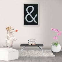 Vinile decorativo e adesivi cane con rosa