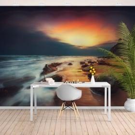 Adesivo murale tramonto sulla spiaggia