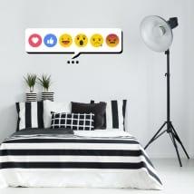 Vinile decorativo e adesivi emoji o emoticon