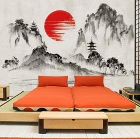 Murales in vinile arte giapponese