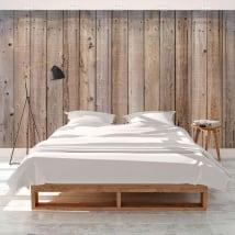 Murales in vinile imitare il legno