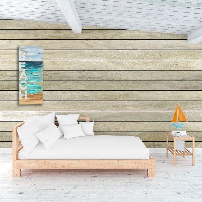 Murales in vinile effetto legno