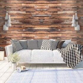 Murali in vinile effetto legno