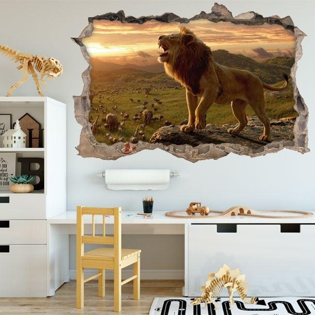 Vinile decorativo e adesivi 3d il re leone