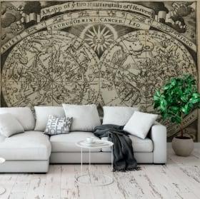 Murales mappa astrale segni zodiacali