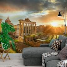 Murales in vinile il foro romano rovina l'italia