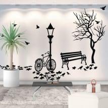 Vinile decorativo paesaggio autunnale
