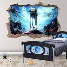 Vinile decorativo e adesivi 3d battaglia di guerre stellari