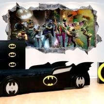 Vinile decorativo 3d batman gotham city impostors