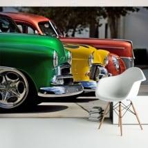 Murali in vinile con auto d'epoca chevrolet