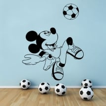Vinili disney topolino con pallone da calcio