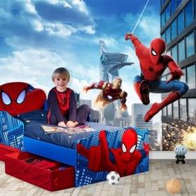 Murales per bambini o giovani spiderman marvel